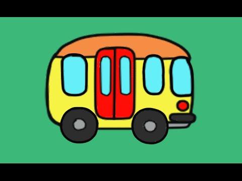 Автобус - РАСКРАСКА - Развивающие мультики для самых ...
