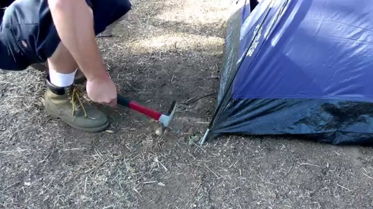 How to Stake a Tent & How to Stake a Tent - YouTube