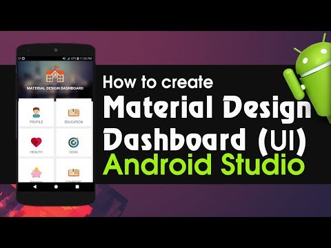 Android Studio Tutorial - How To Create Material Design Dashboard For Android App