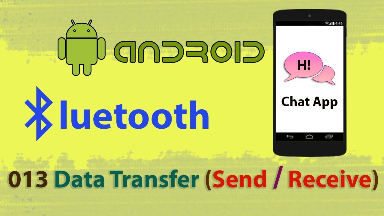 013 : Bluetooth Data Transfer (Sending/Receiving): Android studio bluetooth  communication