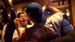 CHICAGO CUBS WIN FAN REACTION