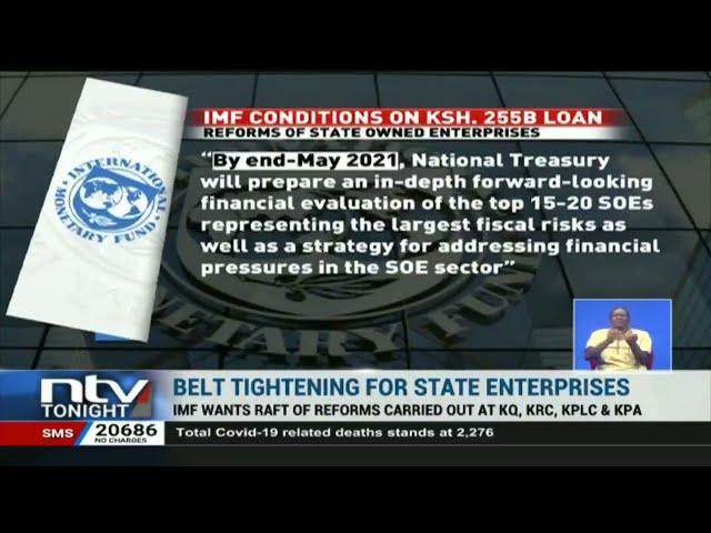 IMF wants raft of reforms at KQ, KBC, KPLC and KPA