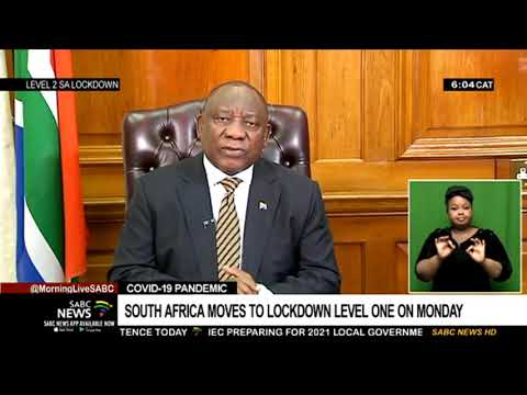 COVID-19 Pandemic | South Africa moves to lockdown level one on Monday