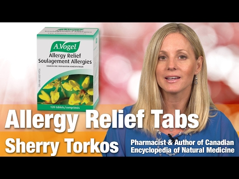 A. Vogel Allergy Relief Tabs with Author & Pharmacist Sherry Torkos