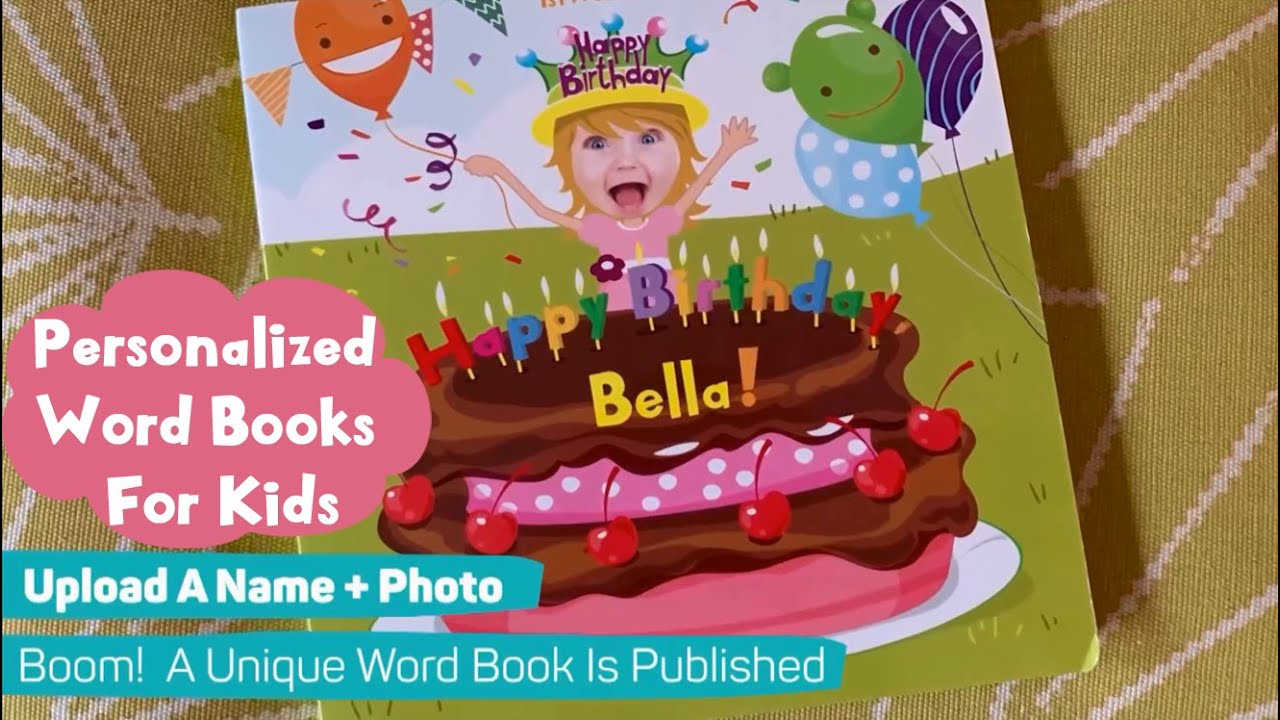 1stWordBook - Personalized Word Books for Kids - Early Literacy Development Made Easy