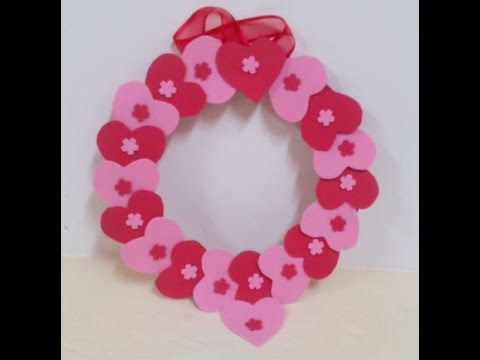 How To Make An Easy Valentine S Day Wreath Diy Tutorial Youtube