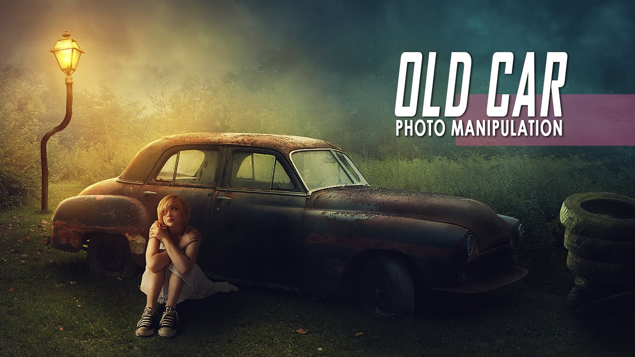 Free Beach Girls Wallpaper Old Car Photoshop Manipulation Effect Tutorial Youtube