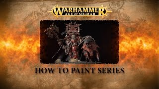 How to paint Warhammer Age of Sigmar part 7 - Korghos Khul, Mighty Lord of Khorne.