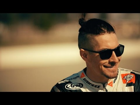 Hitting the track with Nicky Hayden