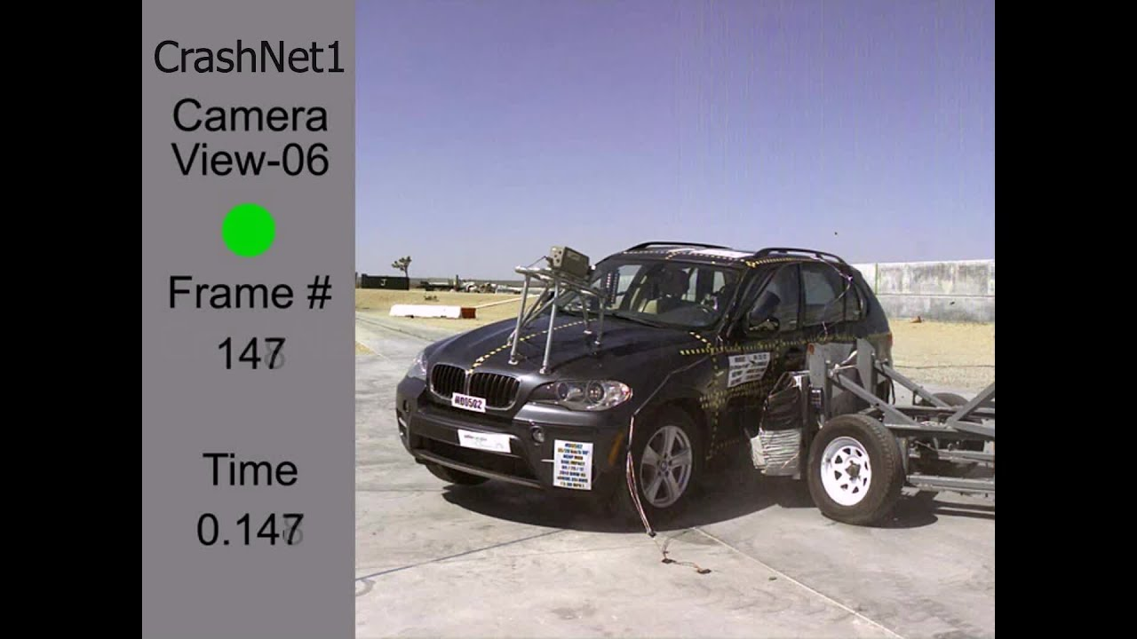 2007 2013 Bmw X5 Side Crash Test Crashnet1 Youtube