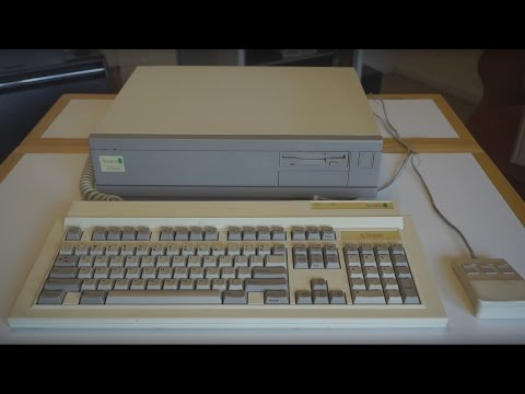 Acorn A5000 running RISC OS 3.1 (From 1991) - Tour and Look