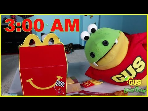 3AM Challenge Do NOT eat McDonalds Food Play Sardines Hide N Seek or Make Fluffy Slime at 3 AM