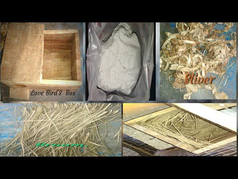 How To Making LOVE BIRD'S Breeding Box Step By Step..//LOVE BIRD'S Nesting Materials.