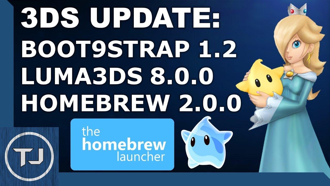 luma3ds_3DSUpdate(Boot9strap1.2,Luma8.0,Homebrew2.0.0)EasyGuide!-YouTube