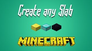 Minecraft - Turn Any Block Into Half-Slabs