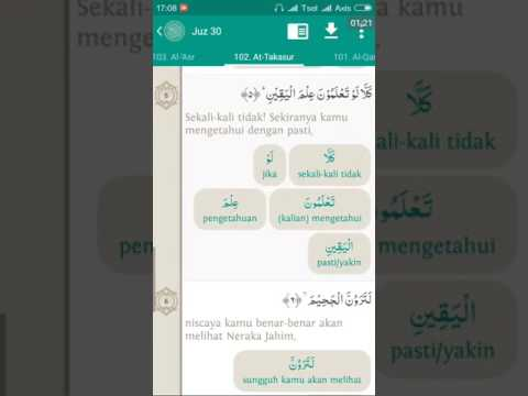 102.Surat At Takatsur (Teks Terjemah Per Kata & Audio Oleh Abi Zikri)