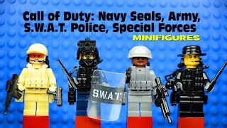 LEGO Call of Duty: Navy Seals, Army, SWAT Police, Special Forces Minifigures