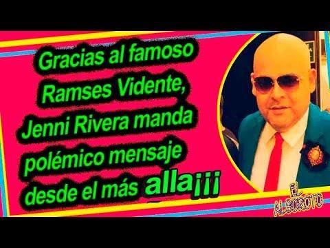 A través de Ramsés Vidente, Jenni Rivera logra mandar mensaje para su familia  #RamsesVidente