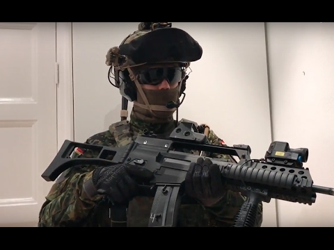 Airsoft - German loadout - YouTube