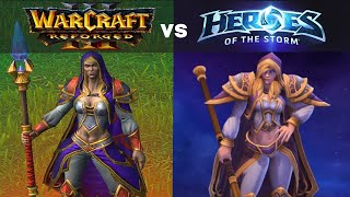 Warcraft 3 Reforged moḋels side by side with Heroes of the Storm models