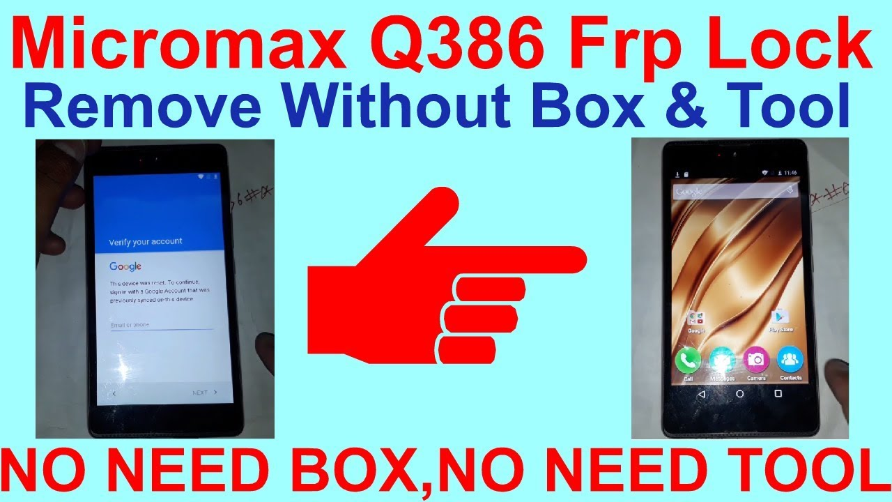 Micromax Q386 Frp Lock Remove Without Box & Tool  by GSM Solution