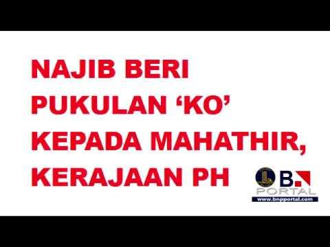 Najib beri pukulan 'KO' kepada Mahathir, kerajaan PH