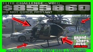 GTA 5 Pacific Standard Heist Glitch With A Buzzard Helicopter (NEW METHOD INSANE)