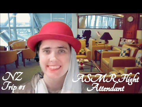 ✈ ASMR First Class Flight Attendant Role Play ✈(New Zealand Trip #1 - Emirates)