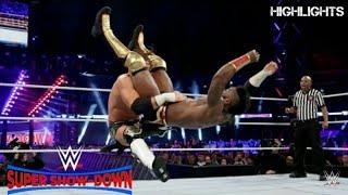 سيدريك الكسندر ضد مارفي علي حزام بطوله 205 Cedric_Alexander_vs_Buddy_Murphy_WWE_Super_Show_Down_2018