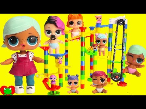 LOL Surprise Dolls Lil Sisters Magical Elevator Marble Run Surprises