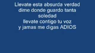 Camila   Restos De Abril letra