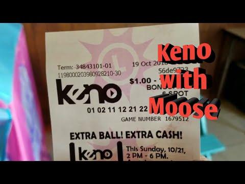 Keno With MOOSE Maryland Lottery Keno Game