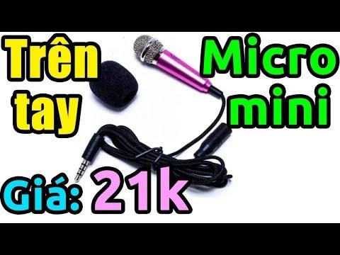 Trên tay micro mini karaoke giá 21k hét tốt