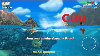 game hung thần biển cả  - sốc toàn tập cá mập cắn luôn cả người bơi