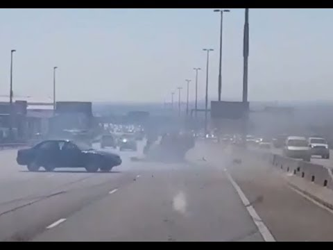 Attempted hit and run on N1 caught on camera