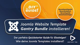 Joomla 3 Tutorial: Joomla Template und Gantry Framework Bundle Installation Deutsch #12