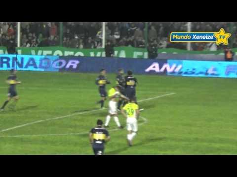 Gol de Sebastián Palacios a Sarmiento de Junin