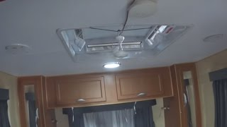 12 volt fan. Ceiling Fan, Testing the air flow for our trips in Caravan, RV or just camping.