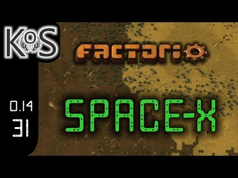 Factorio 0.14 Space-X Mod, Ep 31: Self Building Outpost - Let's Play, Gameplay