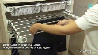 видео Внутреннее наполнение шкафа для одежды – полки, вешалки, штанги, ящики на фото