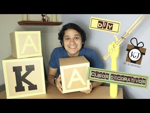 CUBOS DECORATIVOS - DIY - KJ DE SORPRESAS