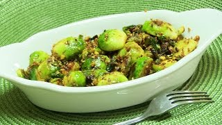 Spicy Brussels Sprouts Indian style Video Recipe from Bhavna's Kitchen