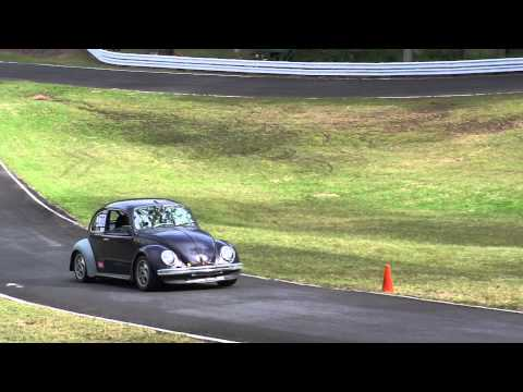 Dave Sidery in his 1916cc VW Beetle at Qld Hillclimb Championships 2nd June 2013