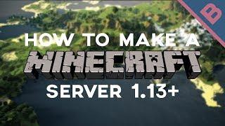 How to make a Minecraft server 1.13+