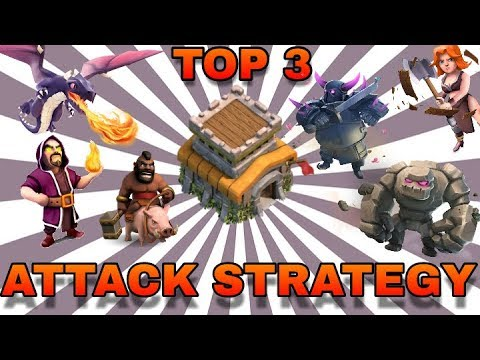 TOWN HALL 8 TOP 3 ATTACK STRATEGY FOR WAR IN CLASH OF CLANS 2018 | TH 8 BEST ATTACK STRATEGY