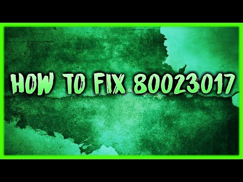 How to fix error code 80023017 on the ps3