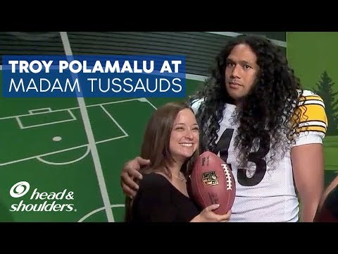 Troy Polamalu at Madame Tussauds Wax Museum