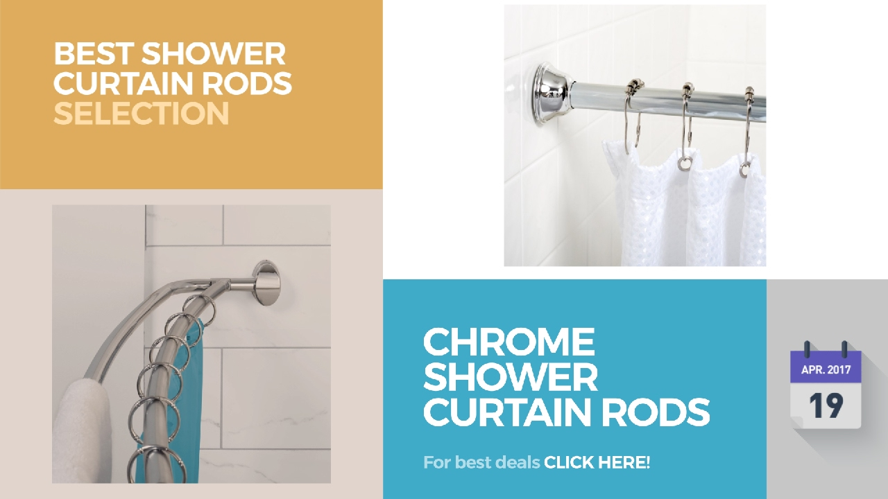 Chrome Shower Curtain Rods Best Shower Curtain Rods Selection ...