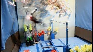 Maloney with Teacher (Uneven bars Gymnastics Robot Prototype B)