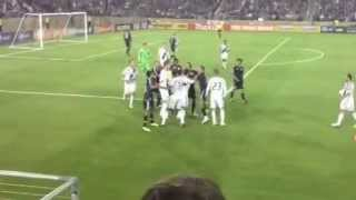 David Beckham Fight (nice angle!!!) against San Jose Earthquakes, June 30 2012